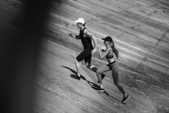 couple jogging on slabs